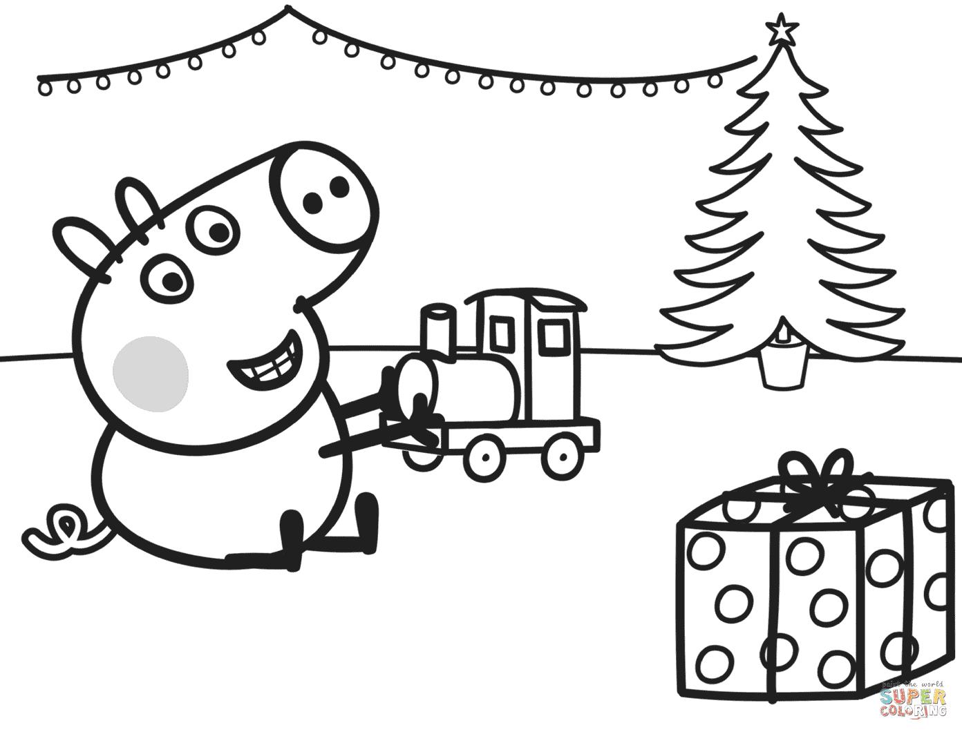 ausmalbild peppa wutz weihnachten  ausmalbild kostenlos