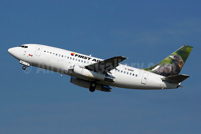 First Air (Bradley Air Services) Boeing 737-25A C-GNDF (msn 23790) (Bald Eagle) YUL (Gilbert Hechema). Image: 908097.