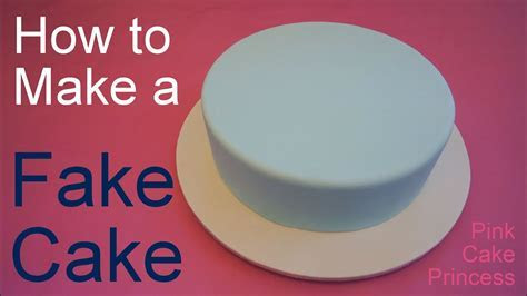 How to Make a Fake Cake or Dummy Cake / Covering a