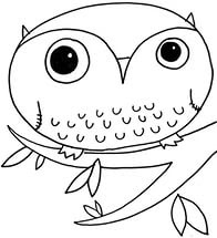 owls coloring pages to download and print for free