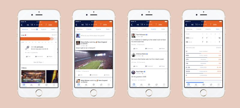 La nueva sección de Facebook te muestra los resultados deportivos al instante