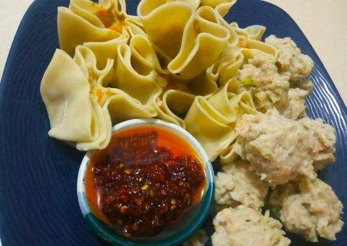 Resep Membuat Dimsum Ayam chili oil Cita Rasa Tinggi