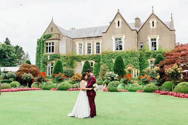 Burgund und blush Hochzeit Dekor