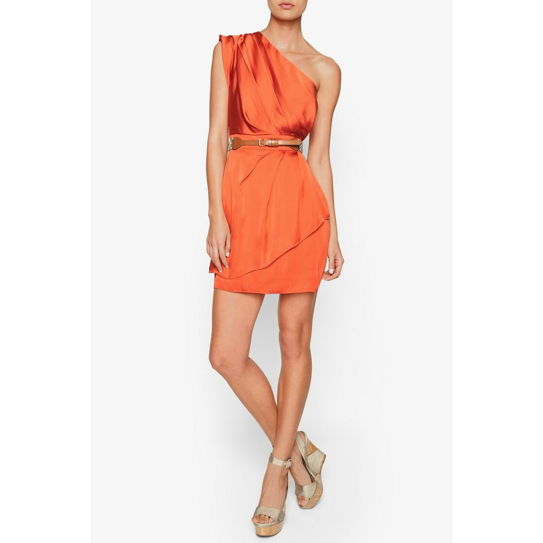BCBGeneration Pleated One-Shoulder Dress