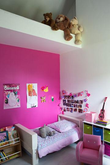 Une Chambre Rose Pour Les Filles Côté Maison