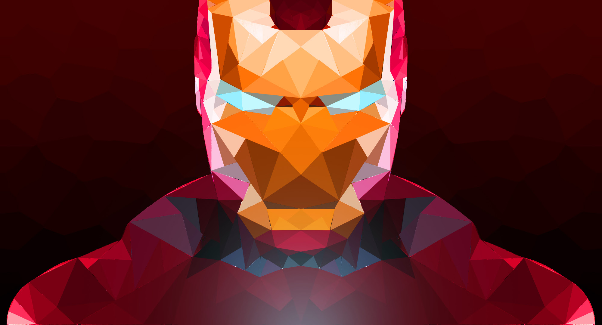 Iron Man Abstract Art, HD Superheroes, 4k Wallpapers, Images