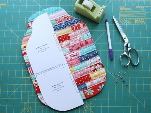 Retro Mama   Quilted Hot Water Bottle Cozy Tutorial/