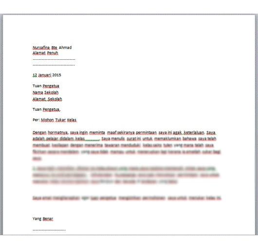 Contoh Surat Rasmi Buka Akaun Bank Rasmi F