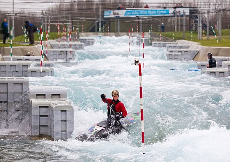 Target? The Lea Valley White Water Centre near Waltham Abbey, was specially built for the 2012 Olympic canoe slalom