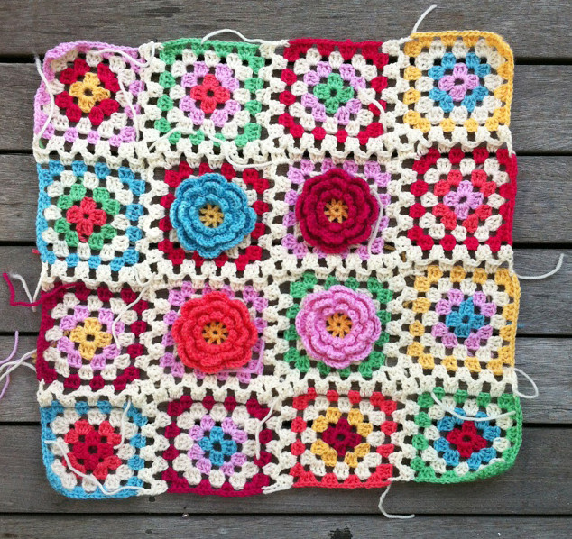 granny squares finished