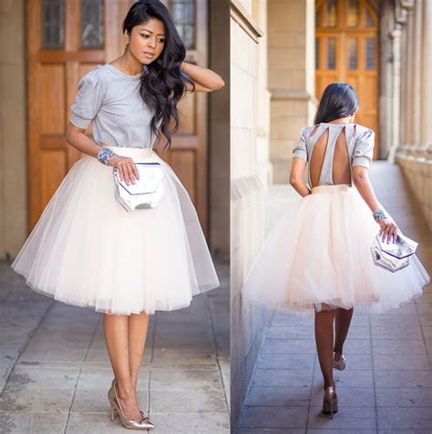 white tulle ballet pleated circle   flare full knee