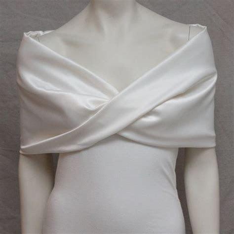 Ivory Satin Shrug Bolero Bride Bridal Capelet Bridal by