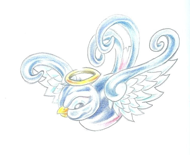 Baby With Angel Wings Drawing At Getdrawingscom Free For Personal