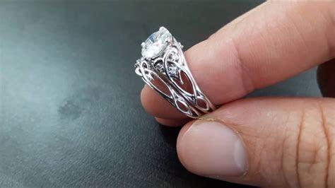 14K White Gold Unique Engagement Rings 2 Carat Diamond