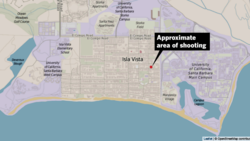 Approximate area of shooting