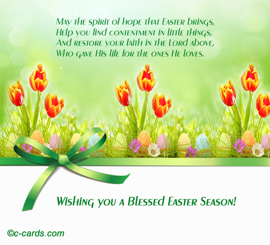 Contentment And Faith Free Happy Easter Ecards Greeting Cards