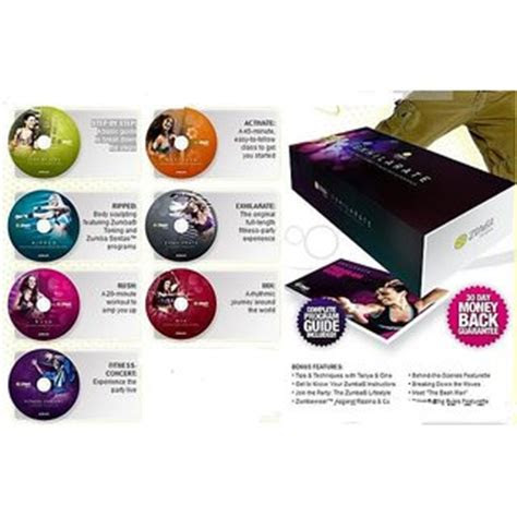 zumba exhilarate home workout kit  dvd set