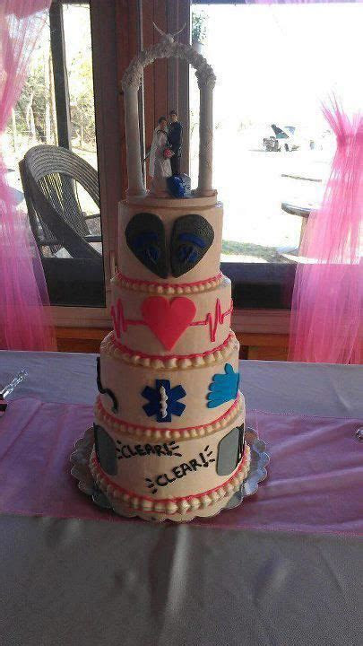 EMT wedding cake..since we are both EMTs now :)   EMT