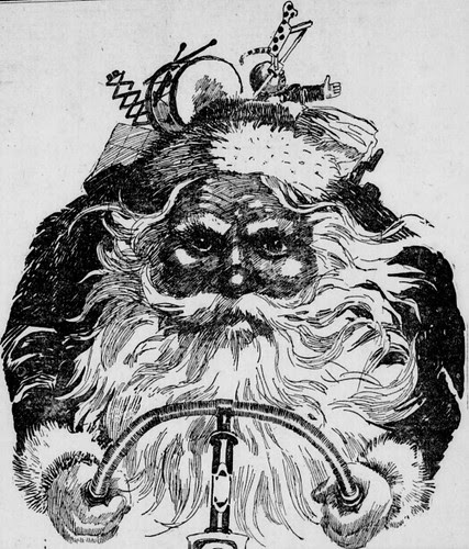 Santa Riding a Bike (1897)