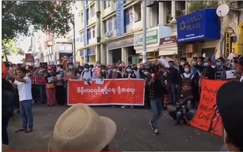 Demonstrasi di Myanmar masuk hari kelima, semakin merebak
