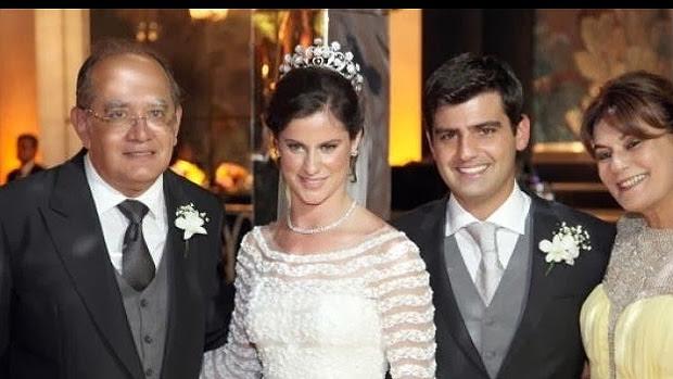 Gilmar Mendes no casamento da filha de Jacob Barata, em 2013