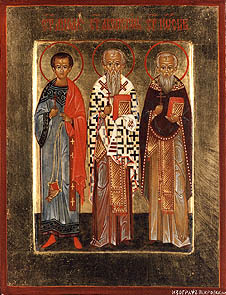 Acepsimus, Bishop of Naeson; Joseph the Presbyter; and Aeithalas the Deacon