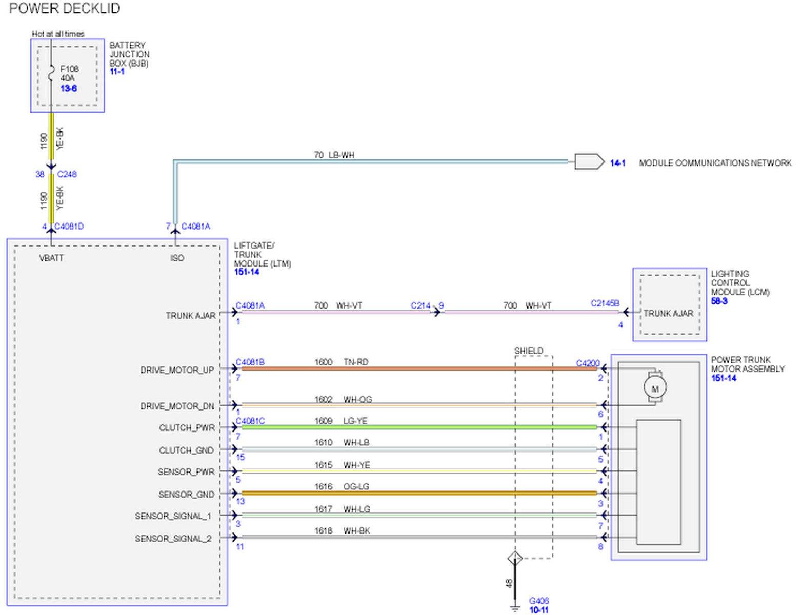 Driver door module wiring diagram