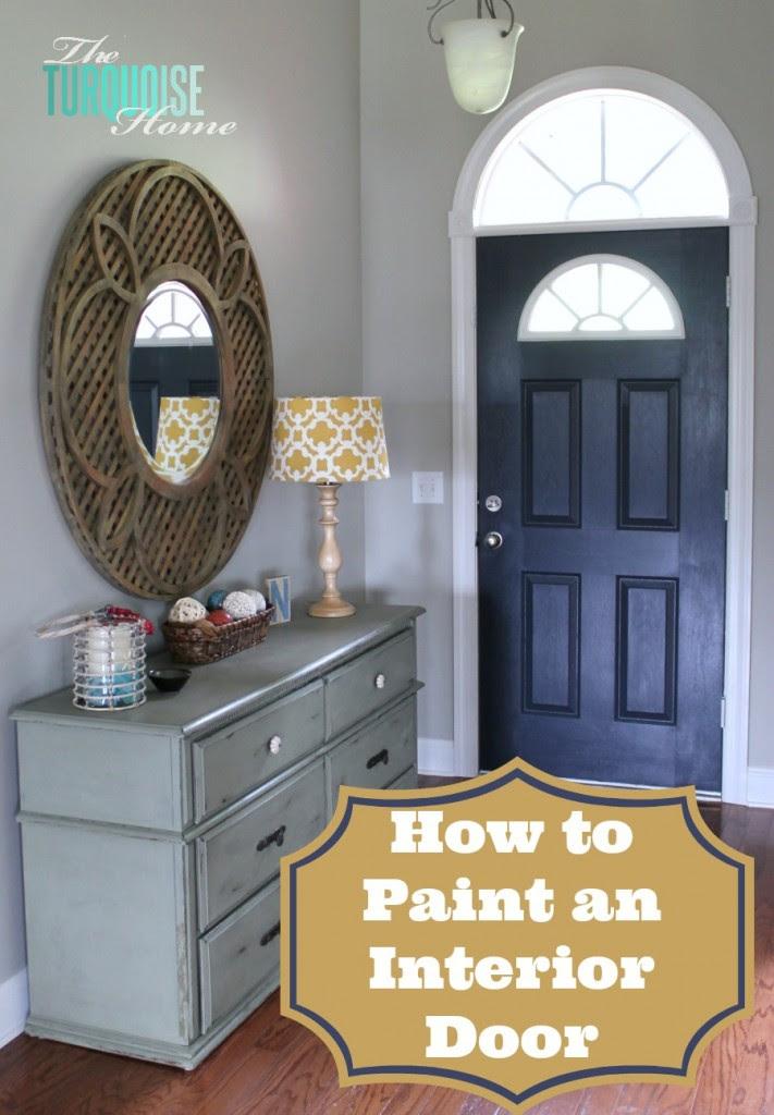 Painted-interior-door-and-foyer