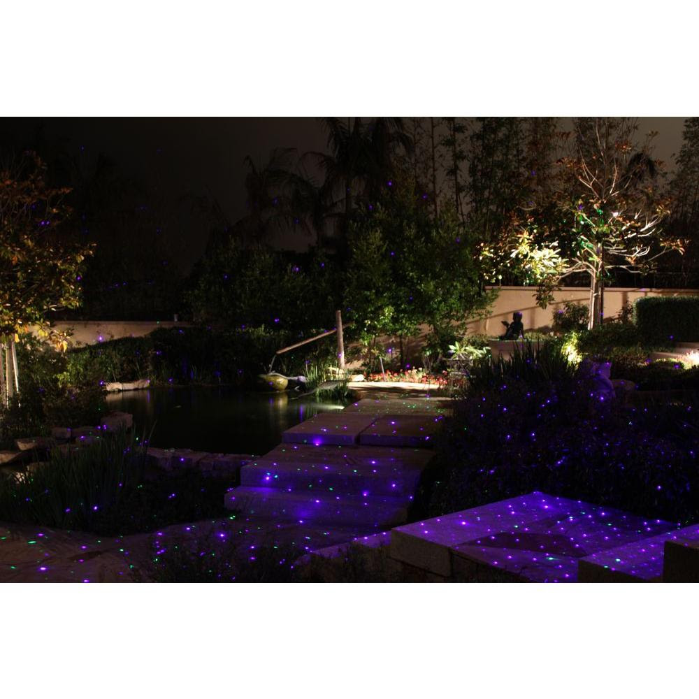 BlissLights SprightBWT 16 in. Blue Laser Landscape Projector/Firefly Landscape Light PPPB, Avi