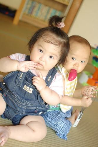 Miyu with her friend