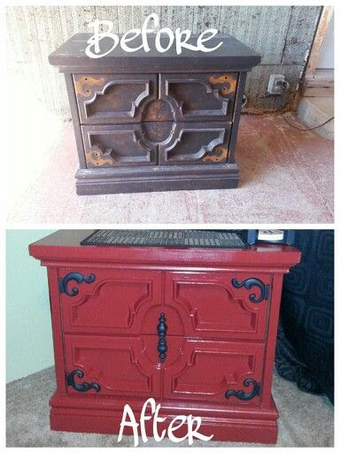Furniture Makeover- My Before and After Photo. Found this end table at a thrift store for $11.00!