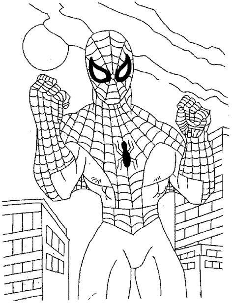 ausmalbilder für kinder spiderman  kostenlose malvorlagen