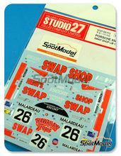 Calcas 1/20 Studio27 - Porsche 956 Swap Shop - Nº 26 - Henn + Rondeau + Paul - 24 Horas de Le Mans 1984 para kit de Tamiya TAM24309 y TAM24314
