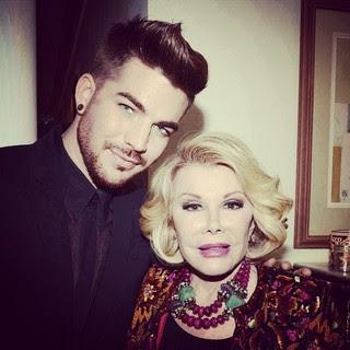 Adam Lambert e Joan Rivers (Foto: Reprodução/Instagram)