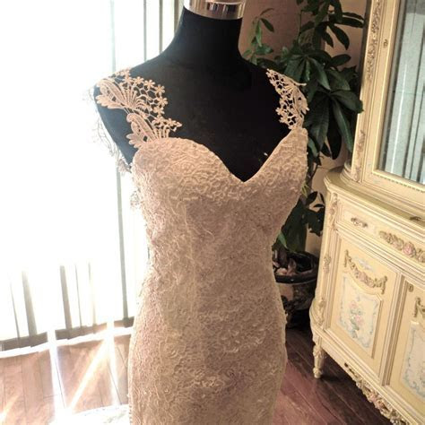 New Ivory Wedding Dress   Trumpet With Beaded Venice Lace