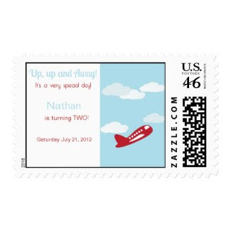 Airplane Birthday Postage
