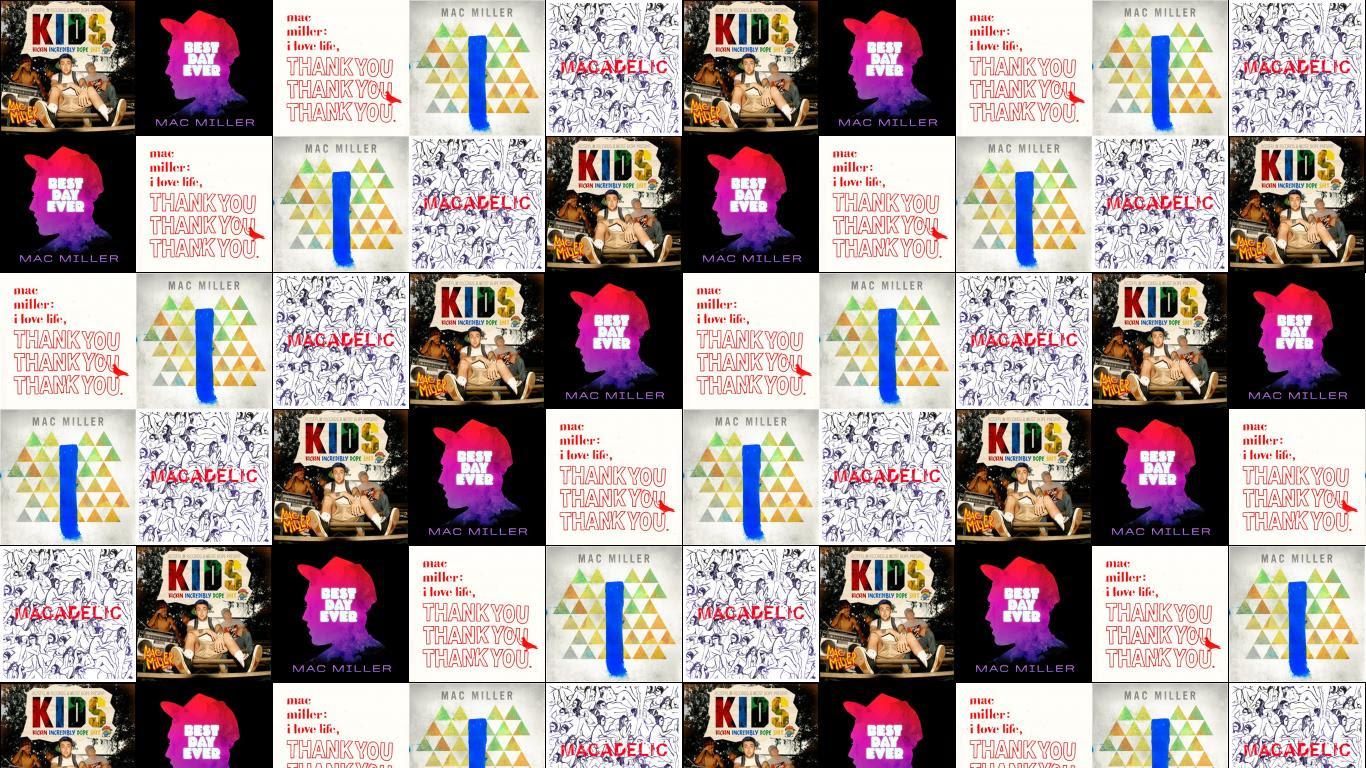 Mac Miller K I D S Best Day Ever The High Wallpaper Tiled Desktop Wallpaper