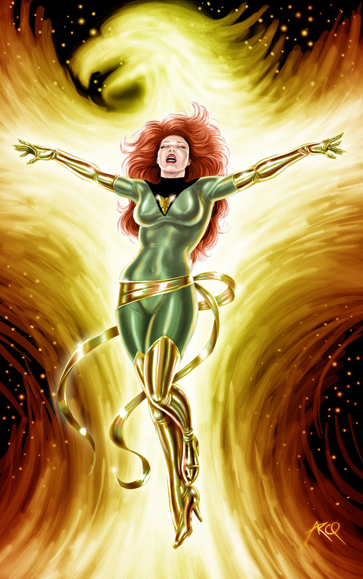 Phoenix the superheroine