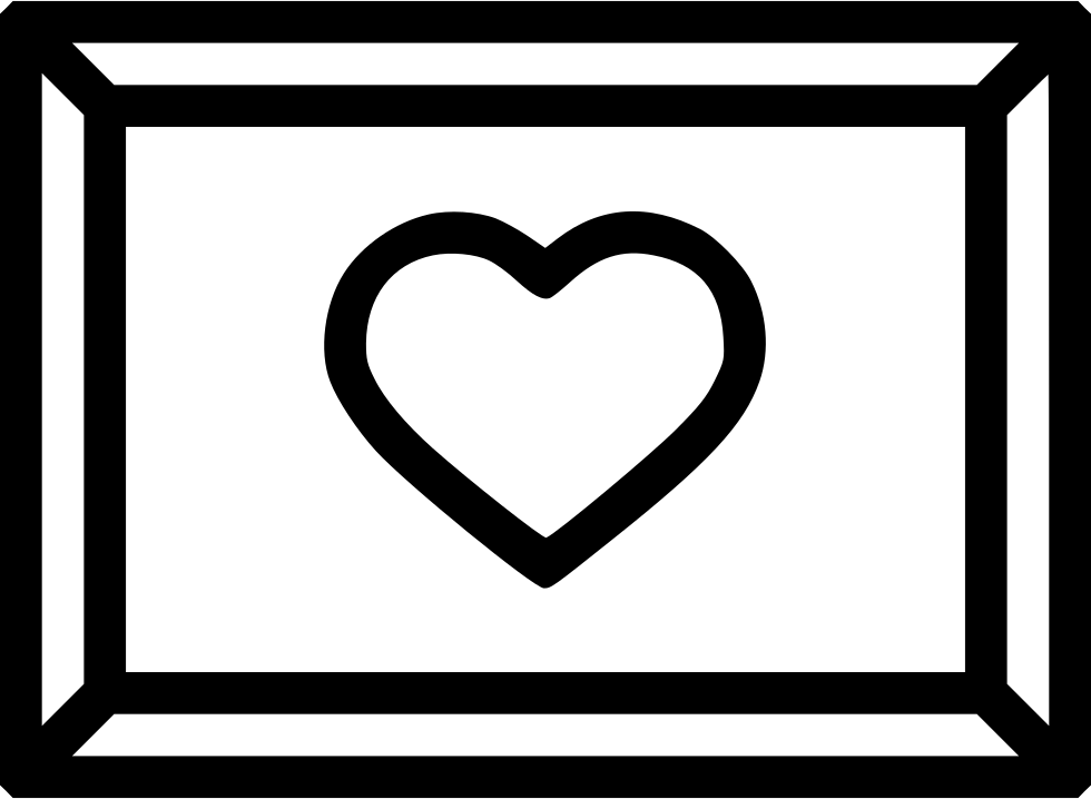 Romantic Valentine Day Photo Frame Memory Picture Heart Svg Png Icon