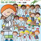 Scientist Stick Kids - Clipart for Teaching