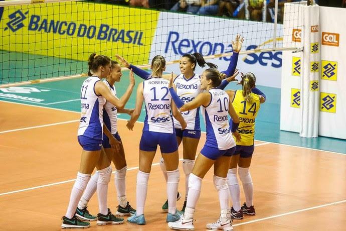 Rio de Janeiro comemora a classificação para a final (Foto: Divulgação/CBV)