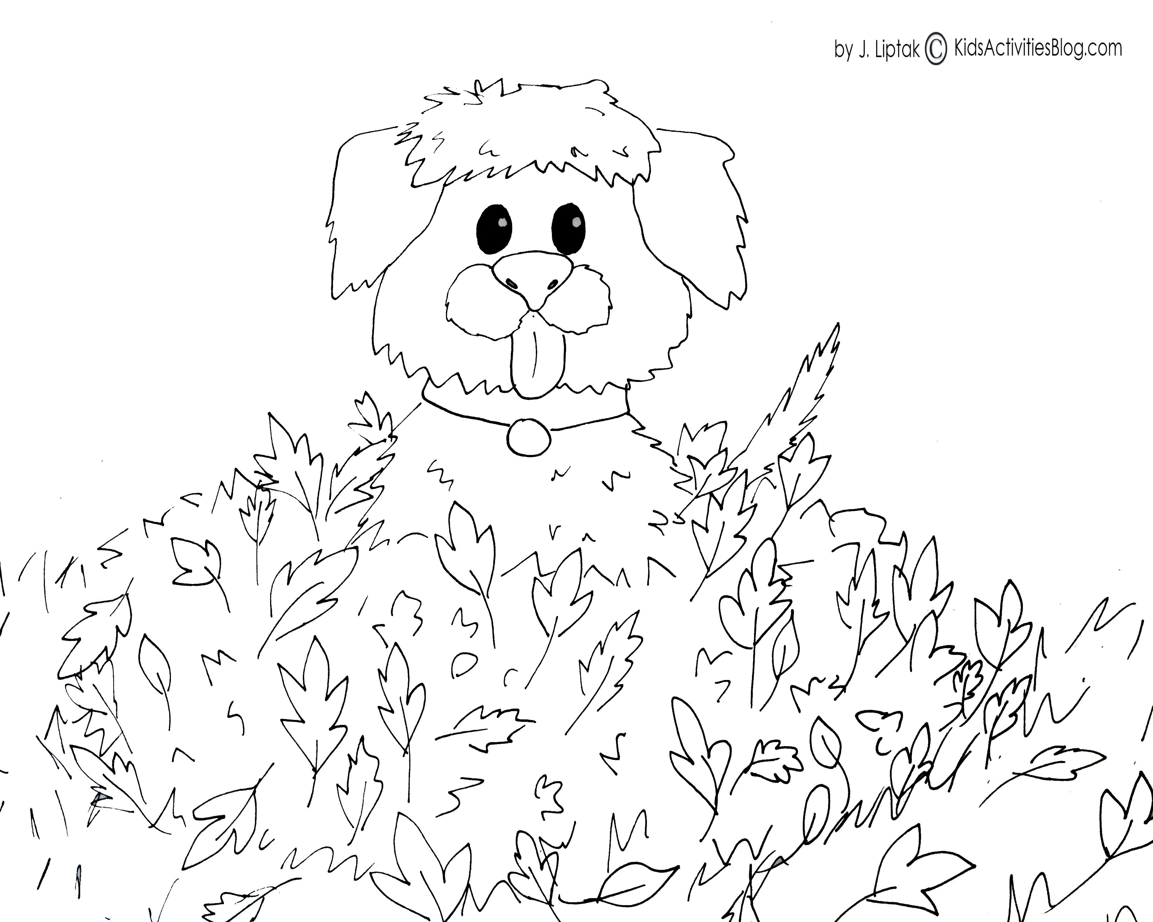 4 {FREE PRINTABLE} FALL COLORING PAGES - Kids Activities