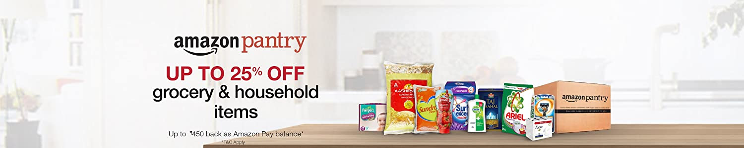25% off on Grocery & Household items