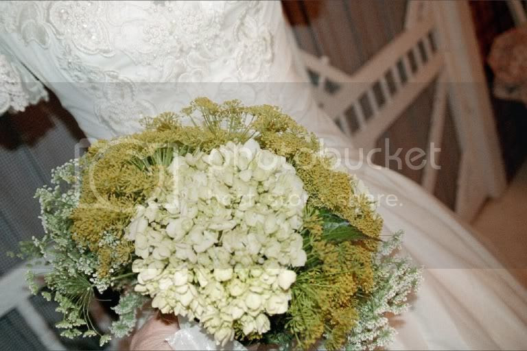 Bridal Bouquet-White Hydrangea, Dill Pictures, Images and Photos