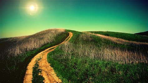 uphill road wallpapers hd wallpapers id