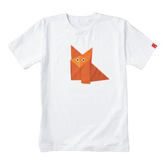 Cute Origami Fox Zazzle HEART T-Shirt