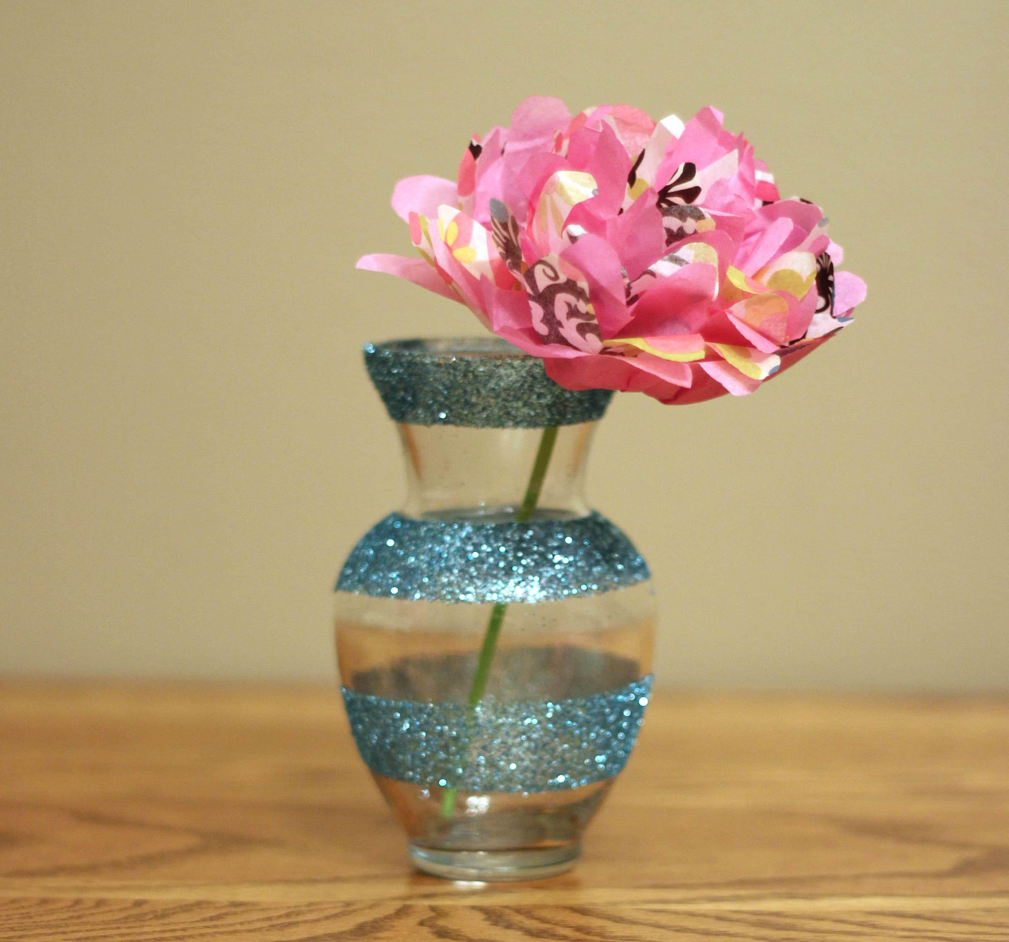 glitter vase tutorial