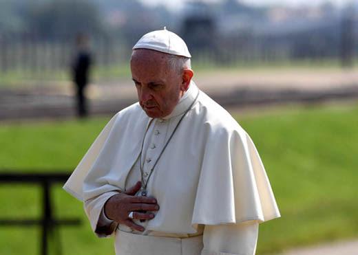 29/07/2016- Pope's visit to Auschwitz-Birkenau  © Mazur/catholicnews.org.uk
