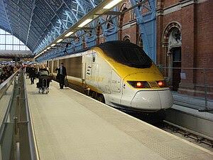 Eurostar, British Rail Class 373 at St Pancras...