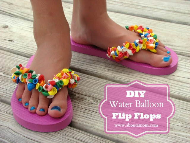 DIY Water Balloon Flip Flops Craft